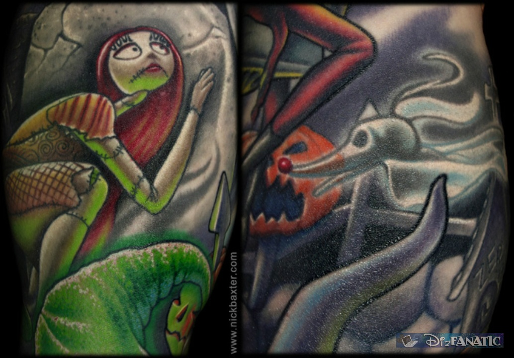 Here's a closer look at Sally & Zero. Check out more of the artist ... Zero Nightmare Before Christmas Pictures